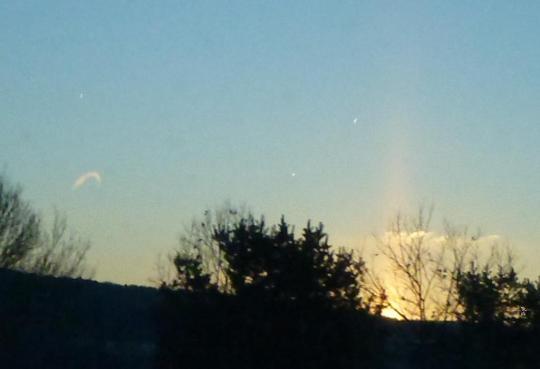 God's finger + a heavely view